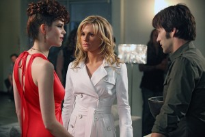 Mariana Kleveno, Anna Paquin and Stephen Moyer on True Blood on HBO