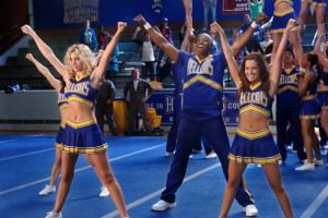 The Hellcats cheer squad performs a routine