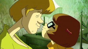Shaggy and Velma kiss on Scooby Doo Mystery Incorporated