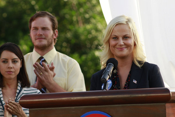 PARKS AND REC: Season Premiere Photos with Leslie Knope