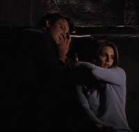 Kate and Castle Trying to Pick Lock