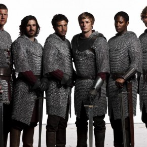 Merlin's Knights - Tom Hopper, Eoin Macken, Santiago Cabrera, Bradley James, Adetomiwa Edun and Rupert Young