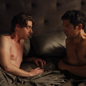 "SMASH -- ""Let's Be Bad"" Episode 105 -- Pictured: (l-r) Christian Borle as Tom Levitt, Neal Bledsoe as John Goodwin"