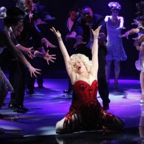 "SMASH -- ""Let's Be Bad"" Episode 105 -- Pictured: (Center) Megan Hilty as Ivy Lynn"