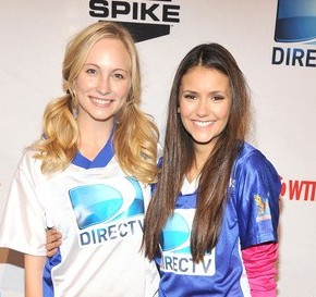 Candice Accola and Nina Dobrev at the 6th Annual DIRECTV Celebrity Beach Bowl