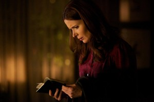 "GRIMM -- ""Three Coins in a Fuchsbau"" Episode 113 -- Pictured: Bitsie Tulloch as Juliette Silverton"