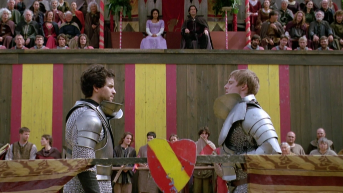 Lancelot and Arthur face off