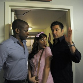 "PSYCH -- Episode 615 ""Heeeeere's Lassie"" - Dule Hill, James Roday, Sara Rue"
