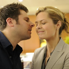 "PSYCH -- Episode 609 ""True Grits"" -- Pictured: (l-r) James Roday as Shawn Spencer, Maggie Lawson as Juliet"