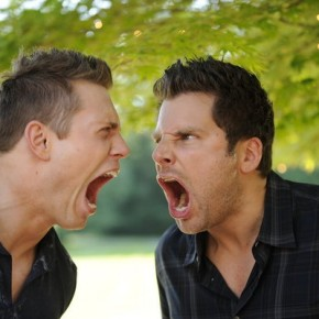 "PSYCH -- ""Shawn and the Real Girl"" -- Pictured: (l-r) The Miz (Michael Mizanin) as Mario, James Roday as Shawn Spencer"