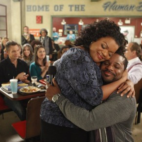 "COMMUNITY -- ""Urban Matrimony and the Sandwich Arts"" Episode 312 -- Pictured: (l-r) Yvette Nicole Brown as Shirley, Malcolm Jamal Warner as Andre"