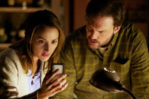 "GRIMM -- ""The Thing with Feathers"" Episode 116 -- Pictured: (l-r) Bree Turner as Rosalee, Silas Weir Mitchell as Monroe"