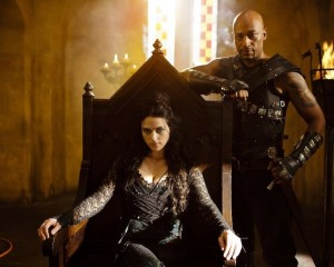 "MERLIN -- ""Season 3 Finale"" -- Pictured: (l-r) Katie McGrath as Morgana, Terence Maynard as Helios"