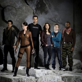 Continuum Cast - Steven Lobo, Rachel Nichols, Victor Webster, Lexa Doig, Erik Knudsen and Roger Cross