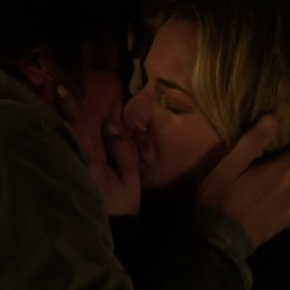 Jack and Emily kissing.