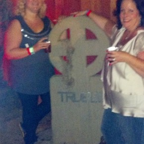Mel and I in the True Blood cemetery - SDCC 2012