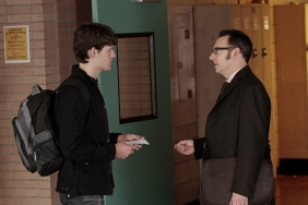 Finch speaks with Caleb at school