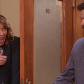 Parks &amp; Recreation S05E11 - Women in Garbage_ThumbsUp