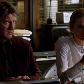 Castle S05E17 - Scared to Death Rick and Kate Watching Video