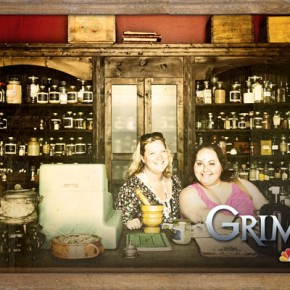 Melissa and Amrie in the Grimm Spice Shop. I don't trust them. Photo: NBC
