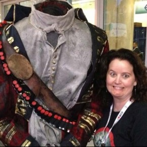 Mynda tries her luck with a Headless Horseman. Photo: Mynda