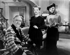 "Monty Woolley, Betty Davis and Ann Sheridan in ""The Man Who Came to Dinner"""
