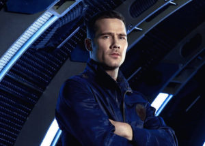 KILLJOYS -- Season:1 -- Pictured: Luke Macfarlane as D'Avin -- (Photo by: Steve Wilkie/Syfy)