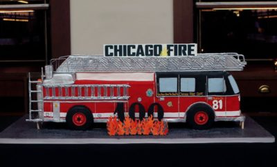 "NBCUNIVERSAL EVENTS -- ""One Chicago Day"" -- Pictured: Chicago Fire cake at the ""One Chicago Day"" Party at Swift & Sons Steakhouse in Chicago, IL on October 24, 2016 -- (Photo by: Parish Lewis/NBC)"